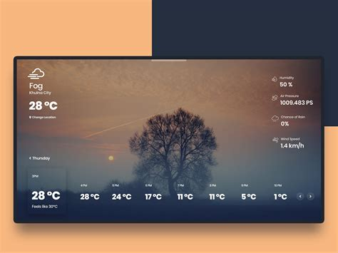 weather application  desktop  hassanur rakib  dribbble