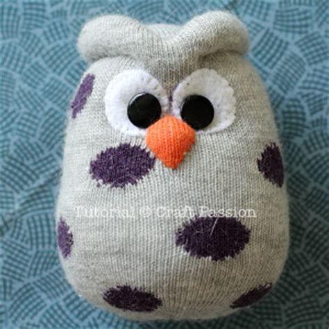 sock owl  sewing pattern tutorial craft passion