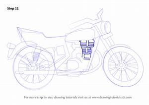 Learn How To Draw A Motorcycle  Two Wheelers  Step By Step