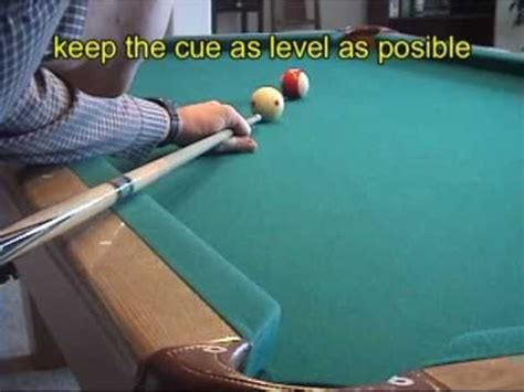pool and billiards draw backspin back shot part 1 technique nv b 97 youtube