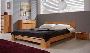 Lit Haut Adulte : lit en bois massif vinci chambre coucher adulte mobilier en h tre ~ Teatrodelosmanantiales.com Idées de Décoration