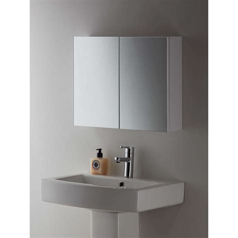john lewis white metal double bathroom cabinet  john lewis