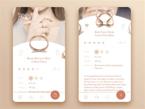 jewellery designing app creative motion 12 concepts of interface animation
