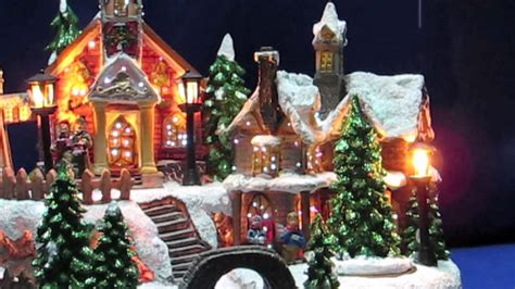 illuminated ornament resin church house scene with