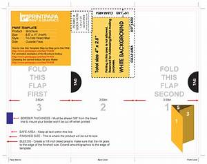 Find a printing template printpapacom for Tri fold self mailer template