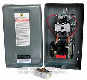 Magnetic Motor Starter Control By Square D 5hp 1 Phase 230vac 30 Amp 785901024699
