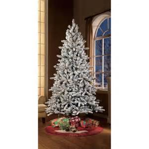 holiday time pre lit 7 5 green flocked birmingham fir artificial christmas tree clear lights