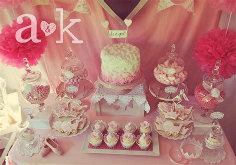 pink dessert table baby shower pink baby shower ideas catch my party