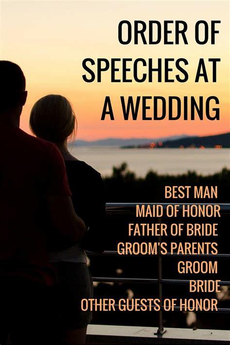 Wedding Reception Toast Order