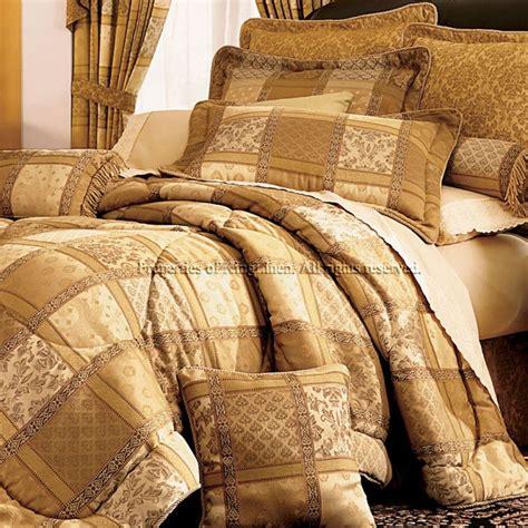 gold comforter set 7pc gold patchwork bedding comforter set cal king ebay
