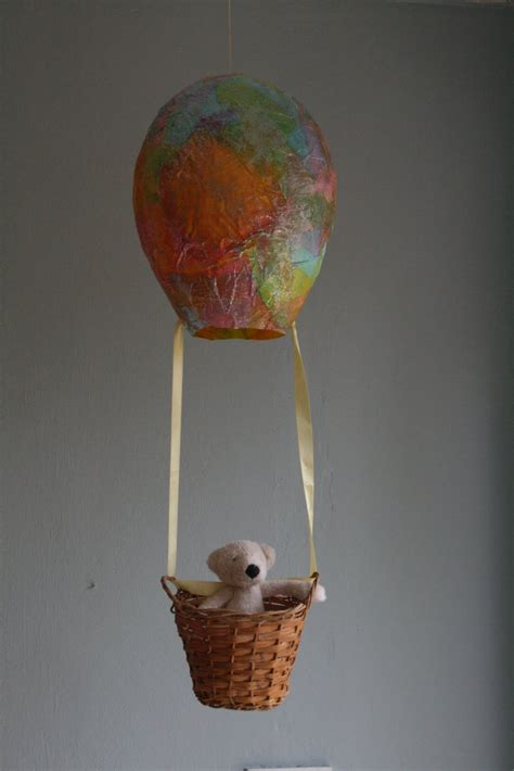 tissue paper air balloon party invitations ideas