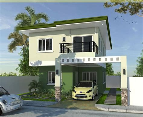 storey house design  sqm philippines desain eksterior rumah home fashion rumah minimalis