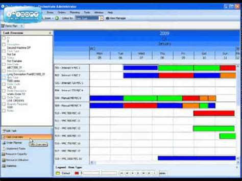 orchestrate production scheduling software youtube
