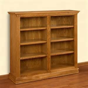 a e britannia double wide 48 inch oak bookcase