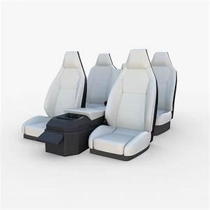 3D Tesla Cybertruck Seats White | CGTrader