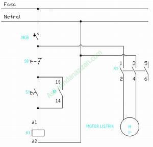 Menjalankan Motor Listrik 1 Fasa Dengan Kontaktor Magnet