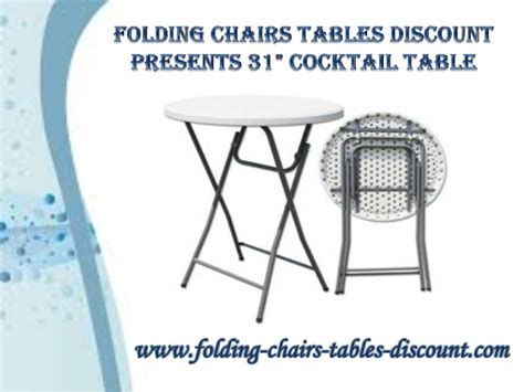 folding chairs tables discount presents 31 quot cocktail table