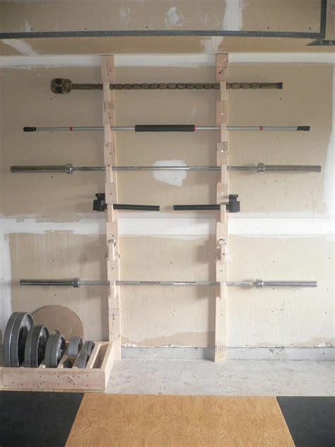 homemade barbell rack fitness pinterest gym crossfit  garage gym