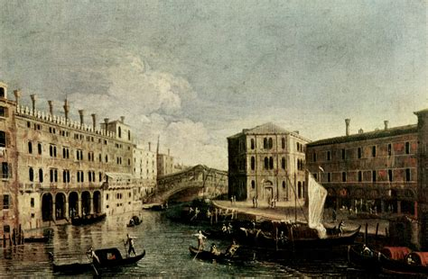Libreria Grande Ponte San by The Grand Canal At Rialto Canaletto Wikiart Org