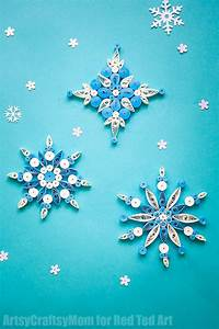 Quilled Snowflake Patterns - Red Ted Art's Blog