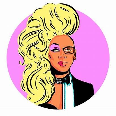 Rupaul Drag Queen Drawing Cartoon Sticker Tara