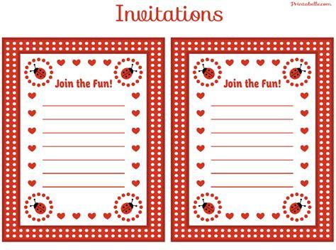 Ladybug Invitation Template Free Bookhotelstk