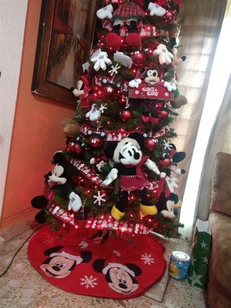 mickey mouse pie de arbol de navidad disney original