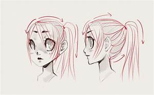 How to Draw Anime Hair Ponytail