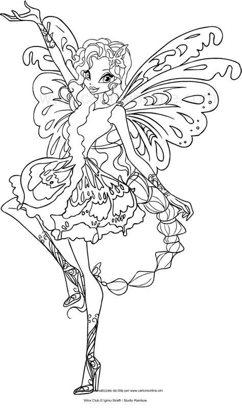 disegni da colorare winx disegno di aisha butterflix winx club da colorare
