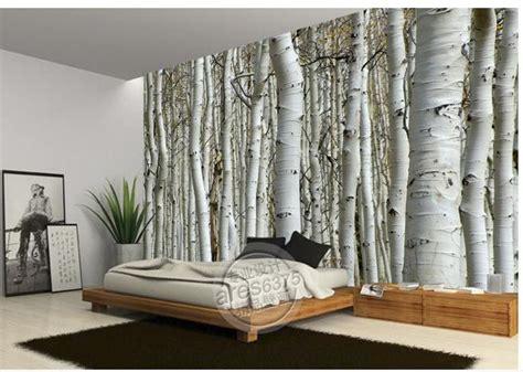 customize size white birch forest wallpaper wall sticker wallpaper mural wallpaper non wvoen