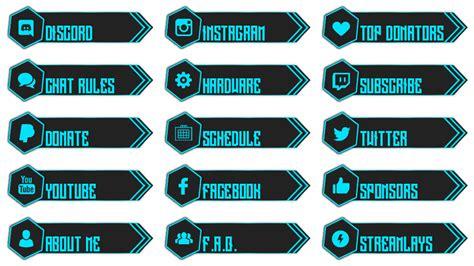Twitch Info Panel Templates by Freedom Twitch Panels Streamlays
