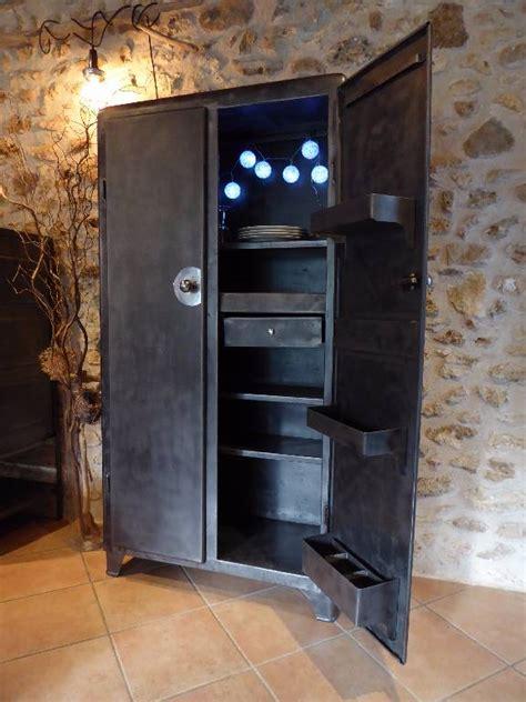 meuble cuisine rangement armoire métal an 50 39 industrielle vintage cuisine puces