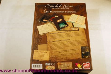 holmes sherlock detective board consulting game boxed murders thames cases games card borderlands