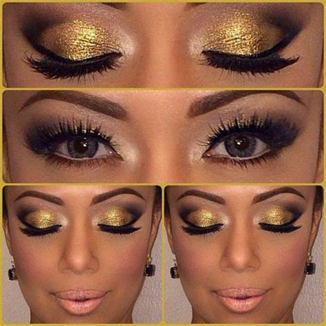 wear gold eye makeup  ideas  tutorial