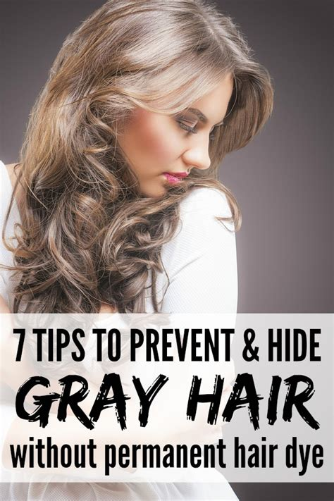 tips  preventing  hiding gray hair