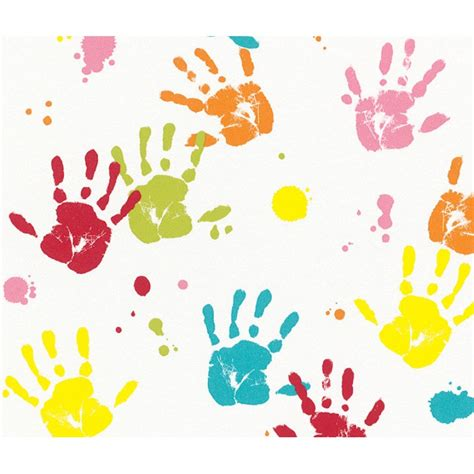 handprint border clipartsco