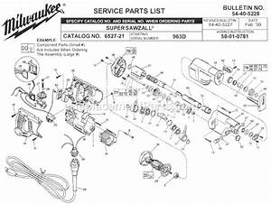 Milwaukee 6527-21 Parts List And Diagram