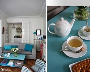 salon bleu turquoise With marvelous bleu turquoise avec quelle couleur 9 deco salon prune et gris