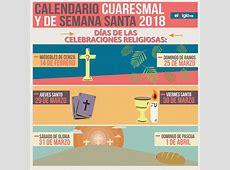 Calendario Cuaresmal y de Semana Santa 2018