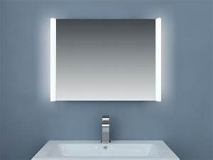 miroir led avec systeme antibuee With miroir eclairant led