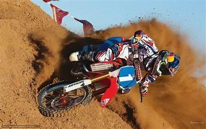 Bull Motocross Racing Honda Parede Papel Motos