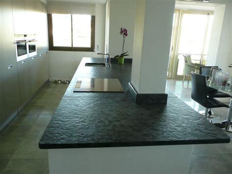 cuisine plan de travail granit noir matrix azur