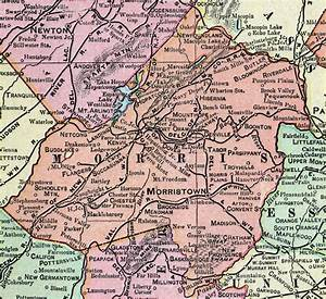Morris Co : morris county new jersey 1905 map cram morristown madison parsippany ~ Watch28wear.com Haus und Dekorationen