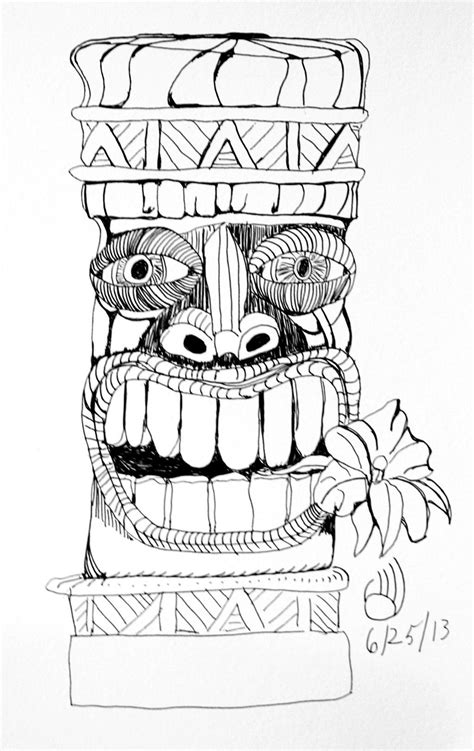 Tiki Totem Templates by Tikis Drawings Google Search Luau Pinterest