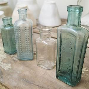 Vintage, Glass, Storage, Bottle, By, Velvet, Ribbon