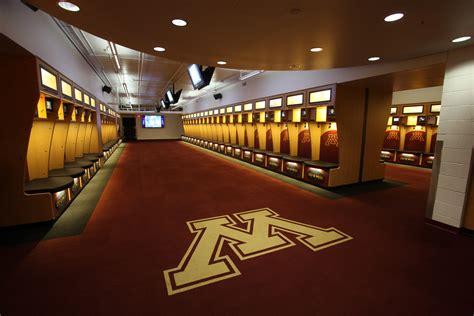 university  minnesota football locker room architect