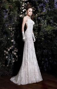 Hot sexy elegant backless lace bridal wedding dresses for Lace backless wedding dress