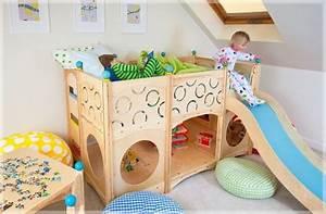 Fernseher Für Kinderzimmer : kinderzimmer mit hochbett und rutsche 50 fotos ~ Frokenaadalensverden.com Haus und Dekorationen