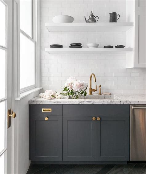 dark grey shaker cabinets grey kitchen shelves decorating ideas and tips from