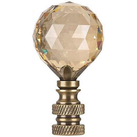 swarovski chagne crystal ball l shade finial